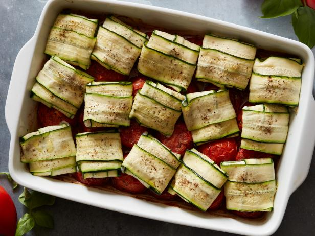 Cheesy Zucchini Packets with Roasted Tomatoes image