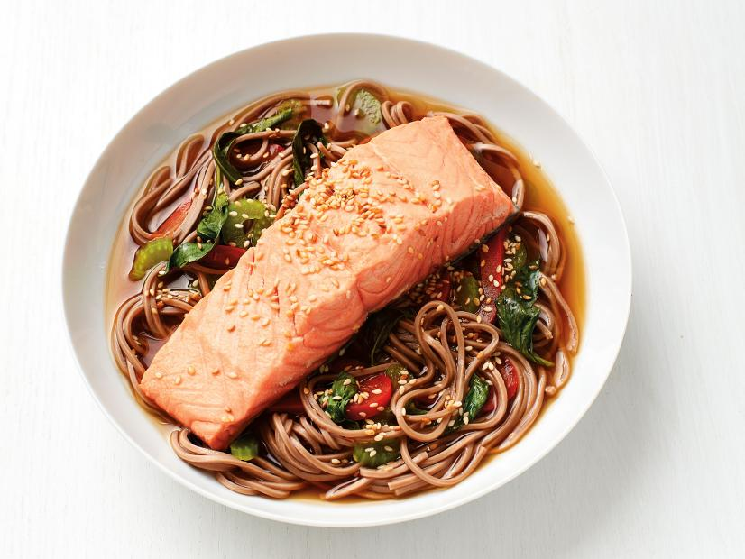 Soba noodles with salmon recipe food network kitchen food network forumfinder Gallery