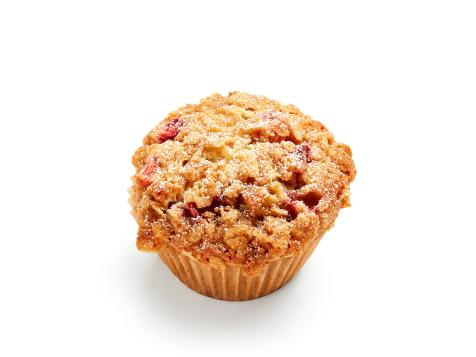 Strawberry-Rhubarb Crumble Muffins