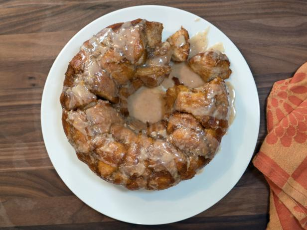 Katie Lee's Pumpkin Monkey Bread with Orange Pumpkin Glaze