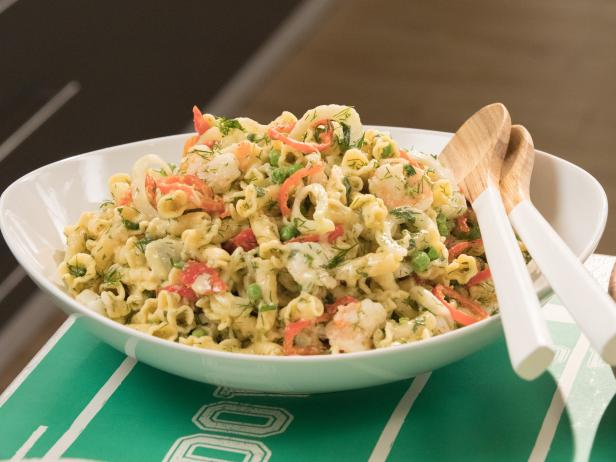 Creamy Shrimp Pasta Salad Recipe Giada De Laurentiis Food Network