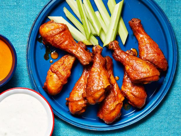 Mild buffalo drumsticks recipe food network kitchen food network mild buffalo drumsticks forumfinder