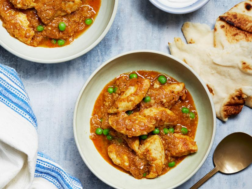 15 Minute Indian Curry With Chicken And Peas Recipe Food Network