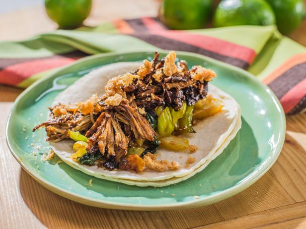 Chicken adobo tacos recipe food network chicken adobo tacos forumfinder Choice Image