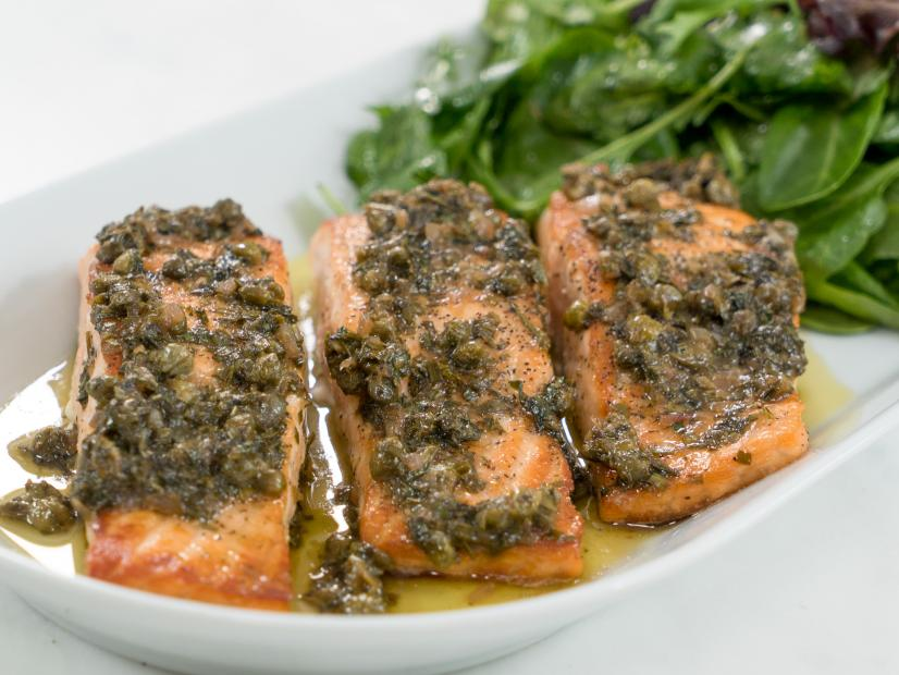 Rose lemon caper salmon recipe ayesha curry food network watch forumfinder Gallery