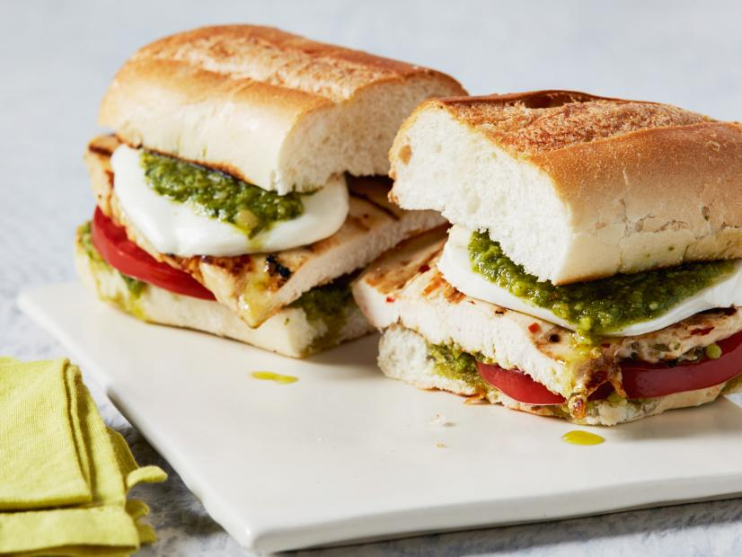 Grilled Pesto Chicken Sandwiches Recipe Food Network Kitchen Food Network