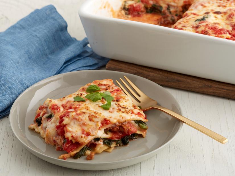 Spicy sausage lasagna recipe food network kitchen food network forumfinder Image collections