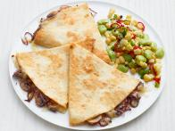 Mushroom Quesadillas with Succotash