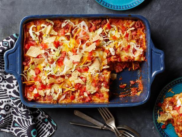 Taco lasagna recipe food network kitchen food network taco lasagna forumfinder Image collections