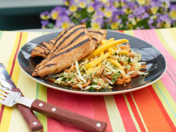 BBQ Jerk Chicken with Caribbean Mango Slaw