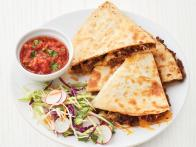 Beef Quesadillas with Broccoli Slaw