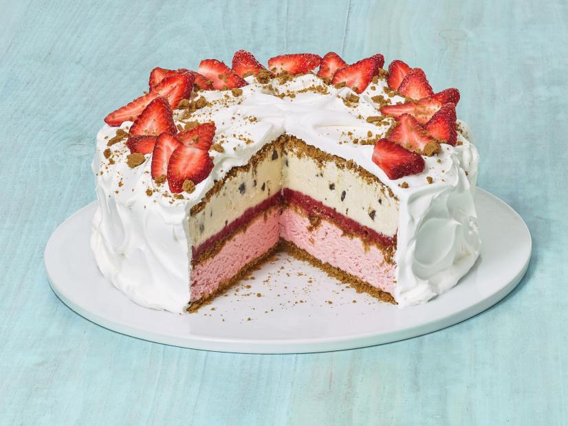 Strawberries And Cream Ice Cream Cake Recipe Food Network Kitchen Food Network