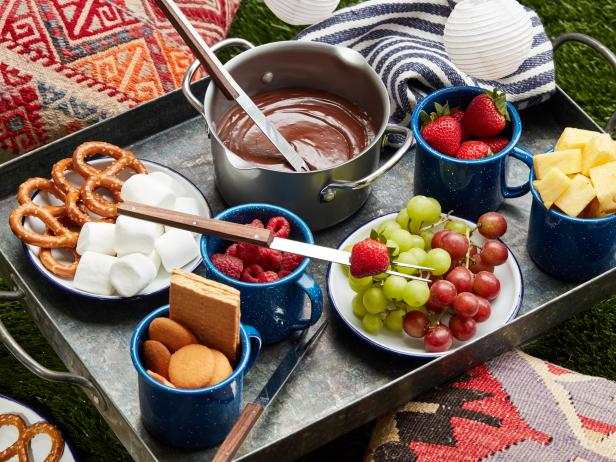 Campfire Salted Caramel and Chocolate Fondue