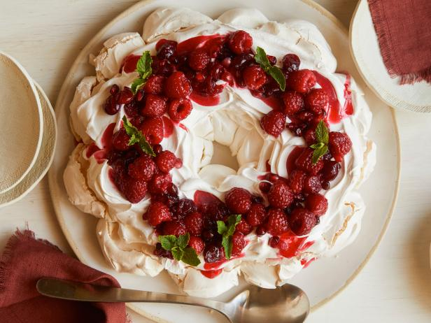 Holiday Berry Meringue Wreath
