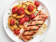 Grilled Salmon and Polenta