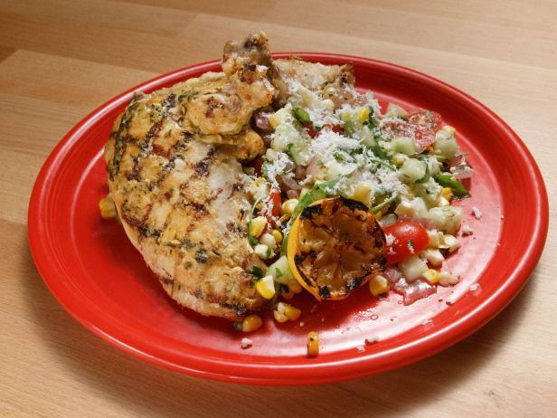 Grilled Lemon Mustard-Rubbed Chicken