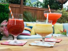 You can't have a pool party without your floaters--liqueurs that float on the top of your drink! The Kitchen has 3 frozen cocktail floater ideas perfect for poolside sipping.
