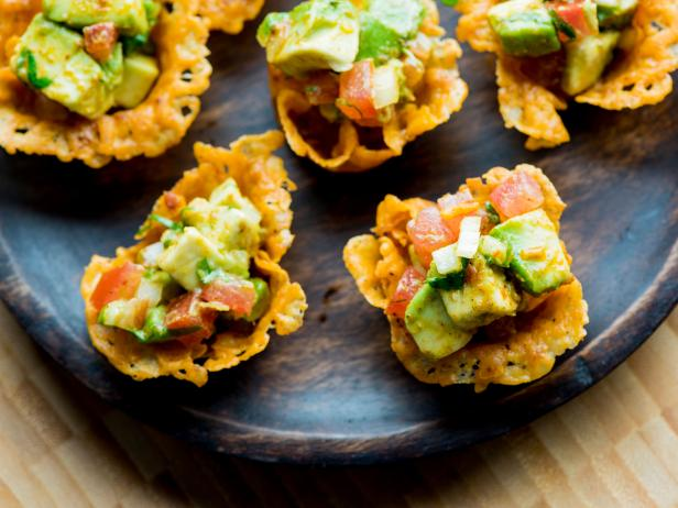 Cheese scoops with guacamole recipe james briscione food network cheese scoops with guacamole forumfinder Images