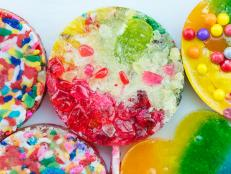 sprinkles hard candy lollipops