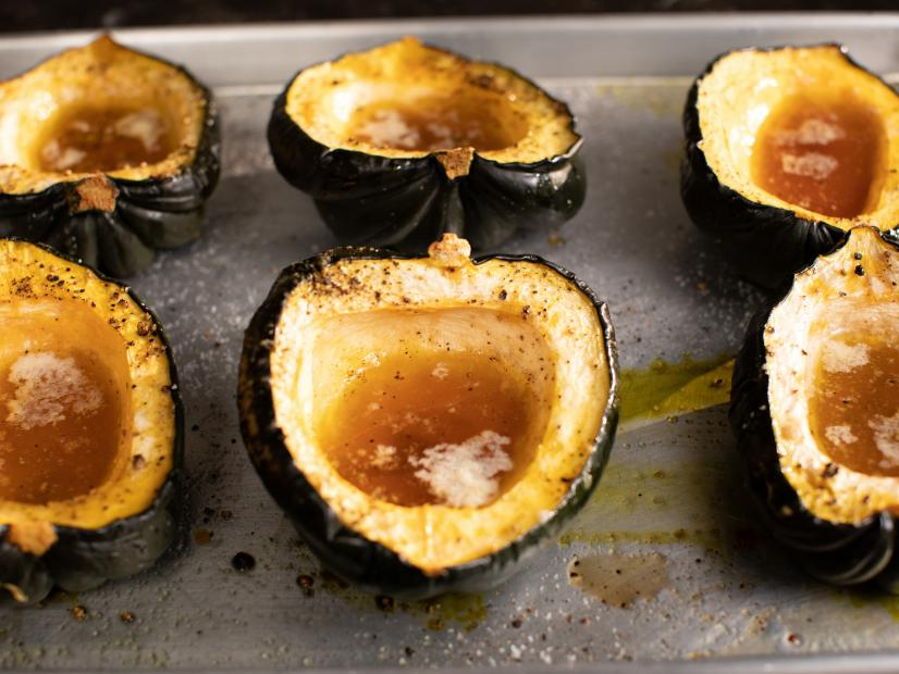 How To Roast Acorn Squash Maple Roasted Acorn Squash Recipe Ina Garten Food Network
