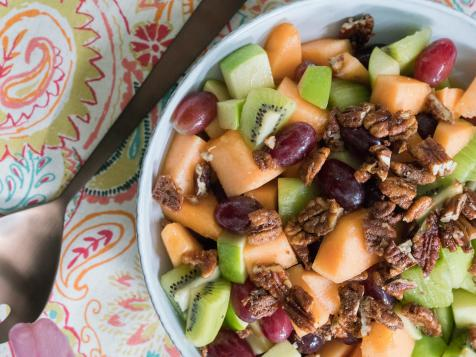Spiced Honey Fruit Salad with Pecans