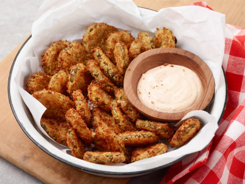 Air Fryer Fried Pickles Recipe Food Network Kitchen Food Network