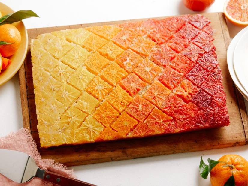 upside down citrus ombre cake recipe food network