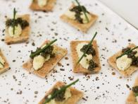 Poppy Seed Crackers with Egg Mousse and Caviar