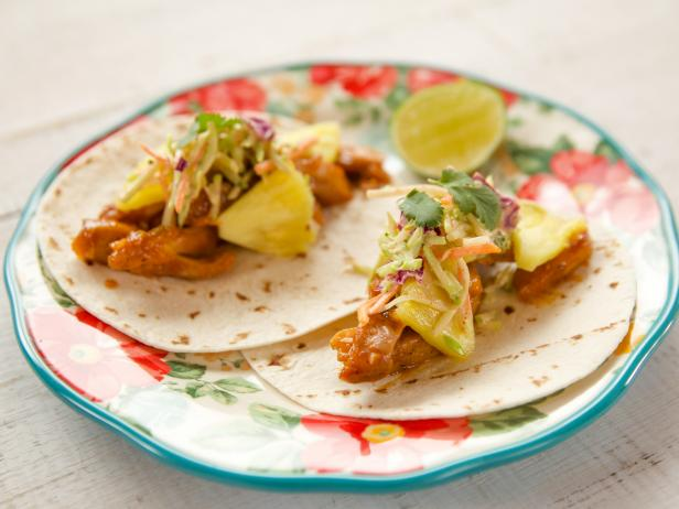 Pineapple chicken tacos recipe ree drummond food network pineapple chicken tacos forumfinder Choice Image