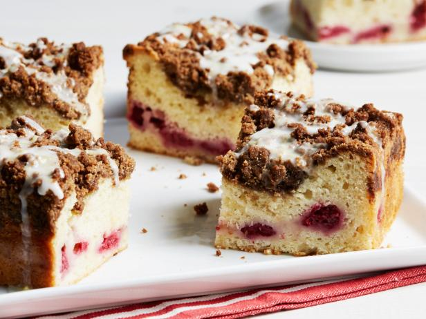 Lemon-Glazed Raspberry Coffee Cake