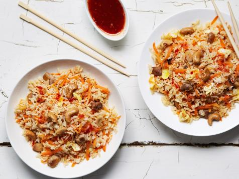 Sweet and Spicy Chicken and Cashew Fried Rice