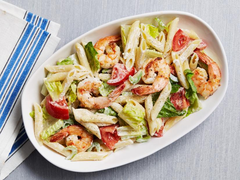Shrimp Caesar Pasta Salad Recipe Food Network Kitchen Food Network