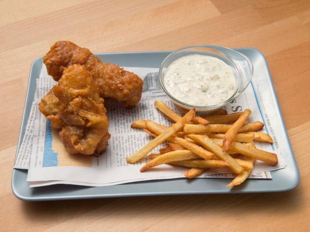 Monkfish and Chips with Remoulade