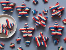 Give these patriotic cookies a shake to see the tiny red, white and blue stars inside the candy windows.