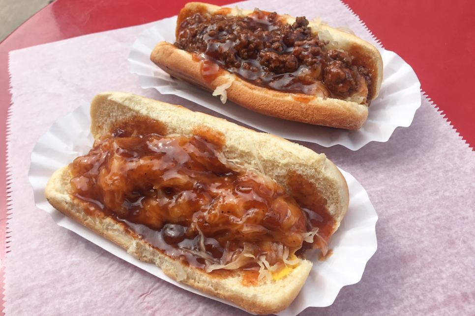 Three some surrounding monstrous wieners