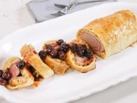 Pork Wellington with Cherry Port Sauce