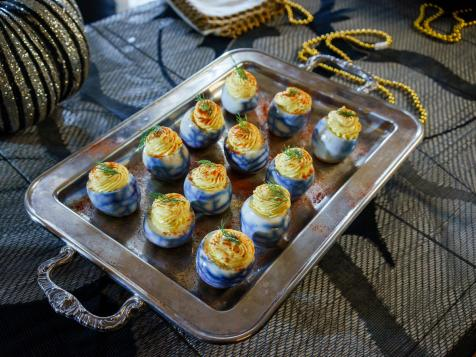 Spider Web Deviled Eggs