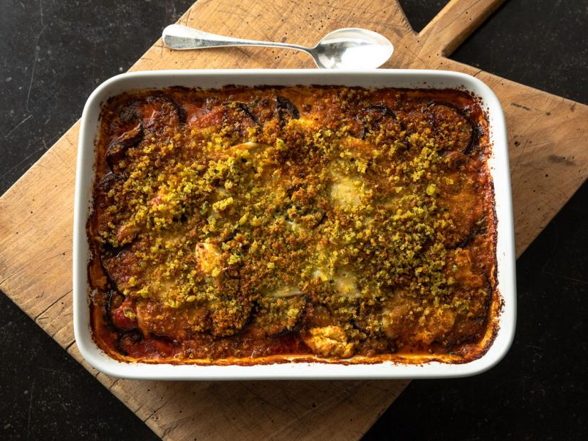 Roasted Eggplant Parmesan Recipe Ina Garten Food Network,Brown Blue Gray Color Scheme