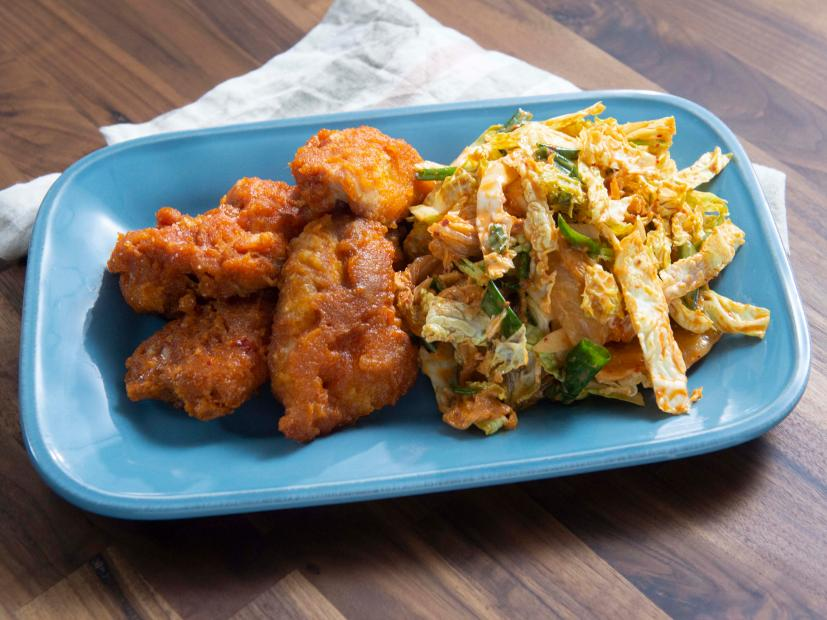 Trendy Fried Chicken With Kimchi Slaw Recipe Rachael Ray Food