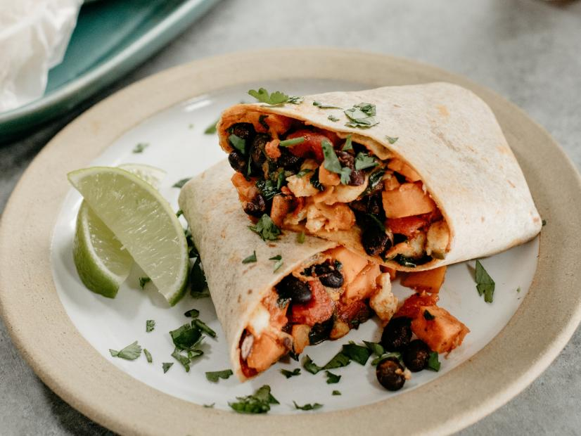 Sweet Potato And Black Bean Burritos Recipe Molly Yeh Food Network