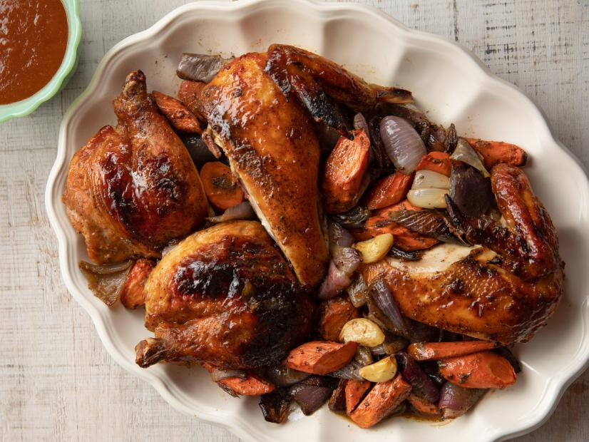 Spatchcock Bbq Chicken Recipe Ree Drummond Food Network