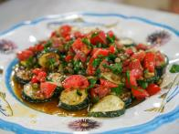 Pan-Fried Zucchini with Anchovy Vinaigrette