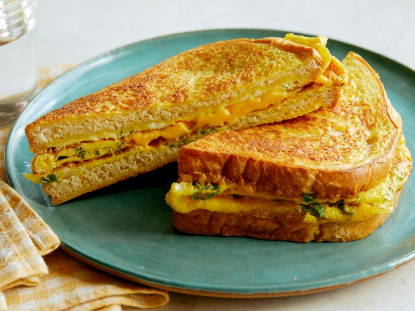 Egg and Cheese Bread Omelet Recipe | Food Network Kitchen ...
