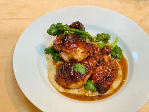 Sesame-Roasted Chicken with Bean Puree