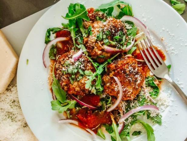 Spicy Chicken Meatballs with Arrabbiata Sauce image