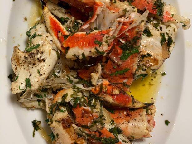 King Crab Leg Scampi Recipe Jj Johnson Food Network