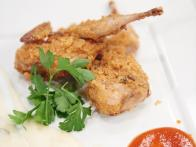 Salt & Vinegar Encrusted Quail and Potato Puree with Honey Sriracha Sauce