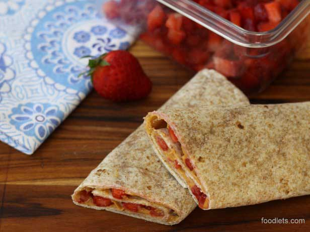 Peanut Butter and Fresh Fruit Wraps