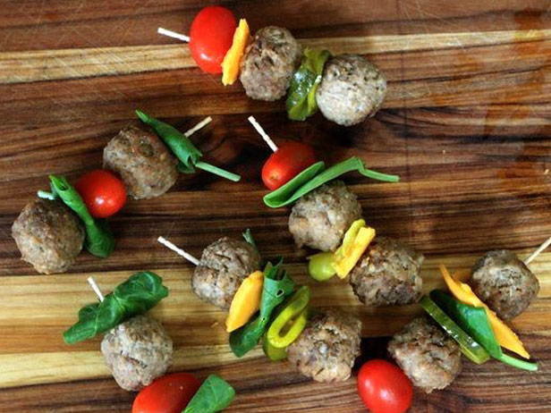 Frozen Meatball Skewers
