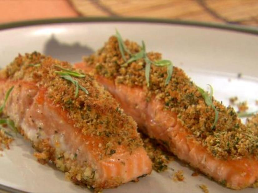 Herb crusted salmon recipe claire robinson food network watch forumfinder Gallery